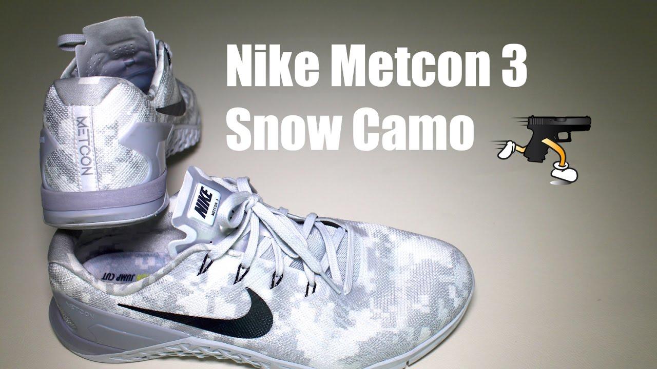 Nike Metcon 3 Snow Camo - YouTube