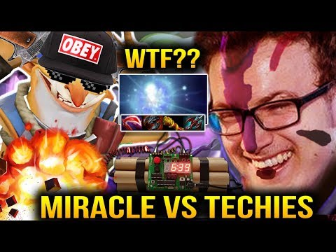 Miracle Anti Mage vs Techies + IO CARRY WTF IS THIS SHIET!