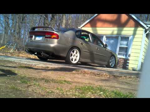 2000 subaru legacy GT limited custom exhaust pt. 1