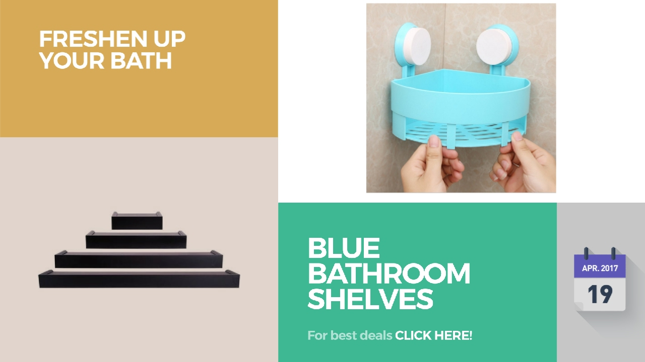 Blue Bathroom Shelves Collection Freshen Up Your Bath - YouTube