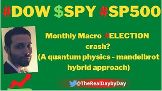 #DOW $SPY #SP500 Monthly Macro  #ELECTION  crash?  (A quantum physics - mandelbrot hybrid approach)