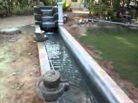 L shaped shallow koi pond youtube for Shallow koi pond