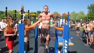 Отжимание на брусьях +48 кг _ Виктор Поражинский