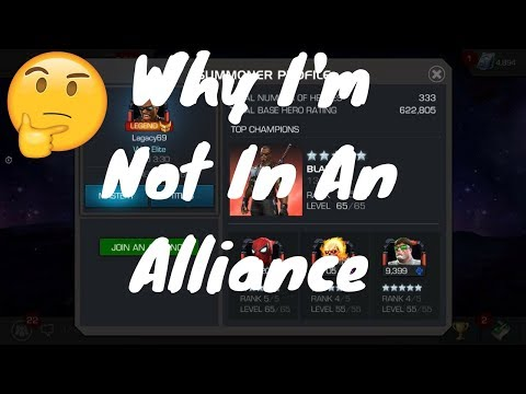 Why I'm Not In An Alliance. Explained