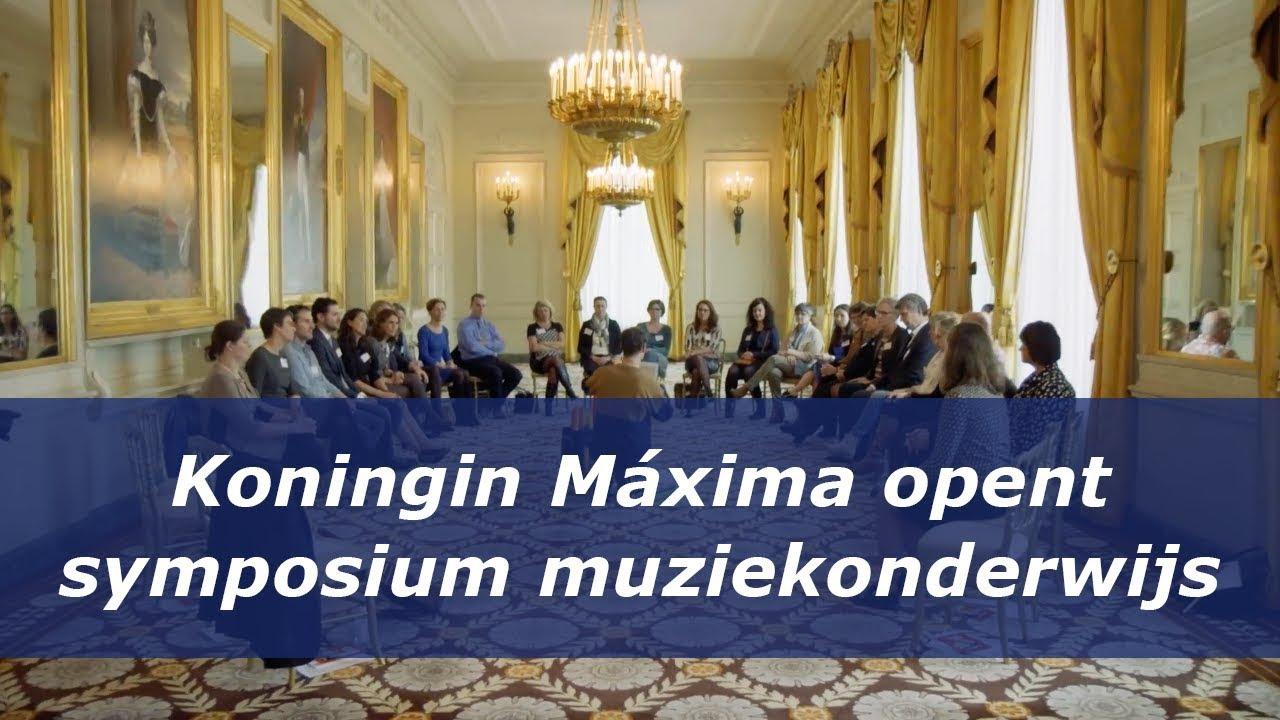 Koningin Máxima opent symposium over muziekonderwijs op Paleis ...