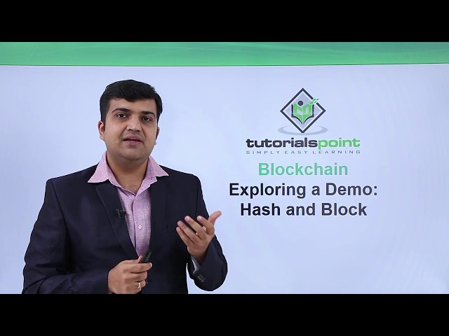 Blockchain - Exploring a demo hash and block