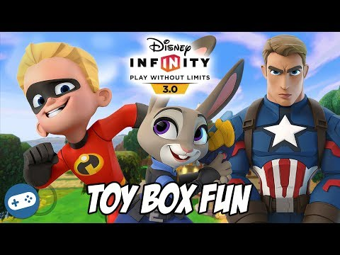 Dash Judy Hopps and Captain America Disney Infinity 3.0 Toy Box Fun Gameplay Soccer Game!