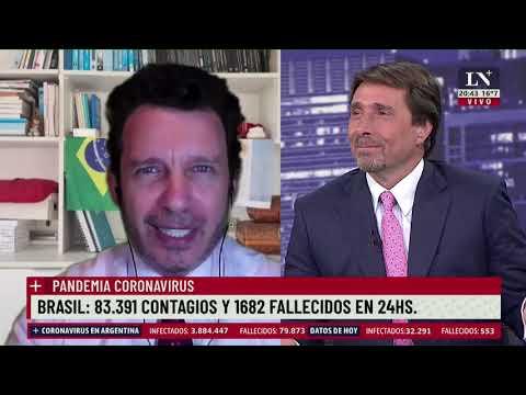 La situación en Brasil: 83.391 contagios y 1.682 fallecido en 24 hs.