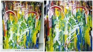 A quick 15 mins Abstract Ganesha Painting with Kitchen Spatula | Ganpati Special
