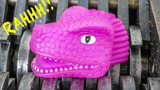Colorful Dinosaurs Shredded! Baby Dinosaurs Destroyed! What's Inside Squishy Water Bath Toys Slime?