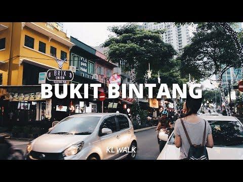 KL Walk: Jalan & Changkat Bukit Bintang @ Bukit Bintang, Kuala Lumpur, Malaysia [4K]