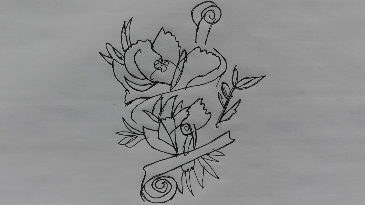 How To Draw A Really Pretty Flower Draw A Flower Step By Step With
