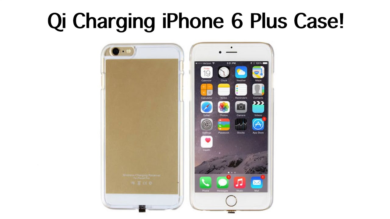 qi wireless charging iphone 6 plus 6s plus case youtube. Black Bedroom Furniture Sets. Home Design Ideas