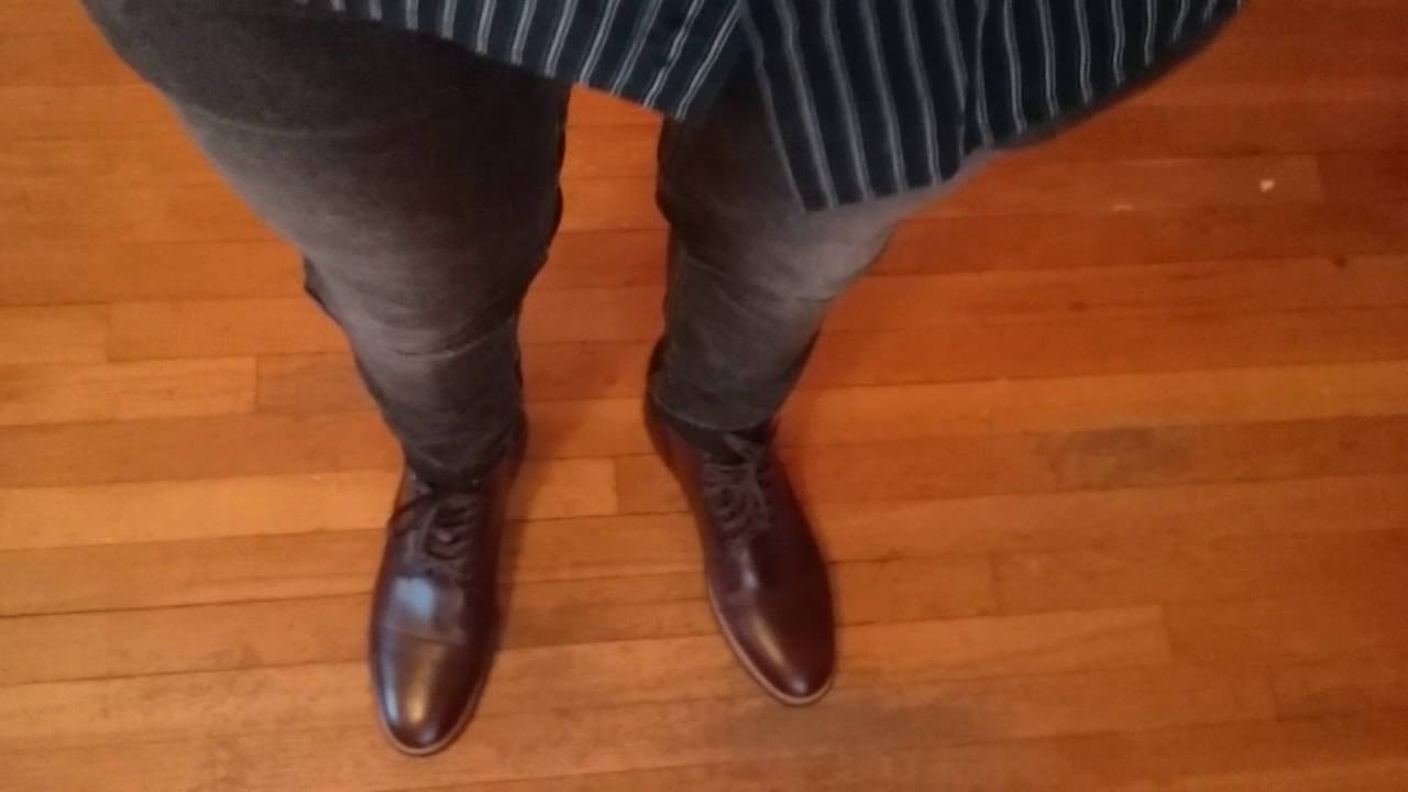 0a4b8702bc4d thursday brown captain boot on feet - YouTube