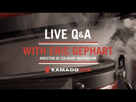 Kamado Joe's Director of Culinary Inspiration Eric Gephart | Live Q&A at ATBBQ.com Headquarters