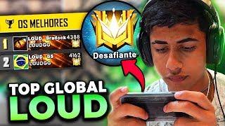 LOUD DOMINOU TOP 1 GLOBAL DO FREE FIRE EM 24 HORAS!!