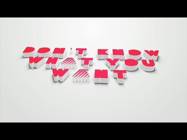 Don't Know What You Want - Lyric Video