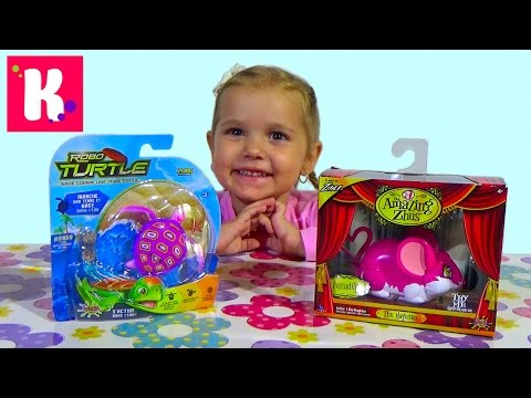 Мышка и черепашка на батарейках / Обзор игрушек