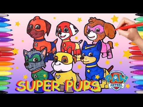 - Super Pups Paw Patrol Coloring Pages How To Draw All Paw Patrol Super  Pups For Kids Paw Patrol - YouTube