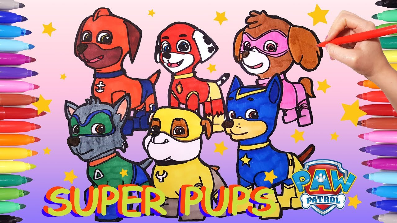 Super Pups Paw Patrol Coloring