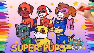 Drawing And Coloring All Paw Patrol Faces All Paw Patrol