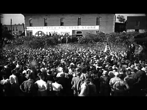 Supporters greet Thomas Dewey, the Republican candidate during the United States ...HD Stock Footage