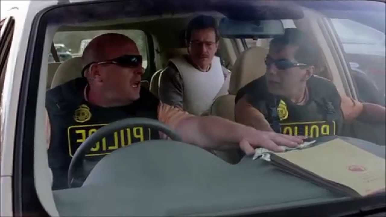 Image result for Walter white Hank ride-along