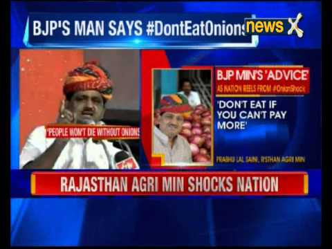 Rajasthan Agri Min shocks nation  : Don't Eat onions if you Can't Afford'