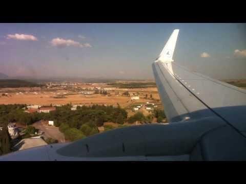 Luxair Boeing 737-700 Landing at Izmir (Turkey)