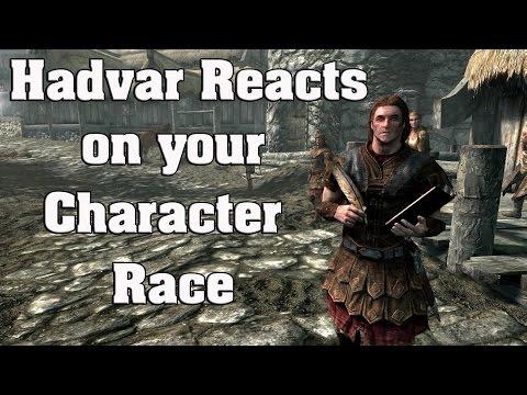 Skyrim Special Edition: Hadvar reactions on your character race thumbnail
