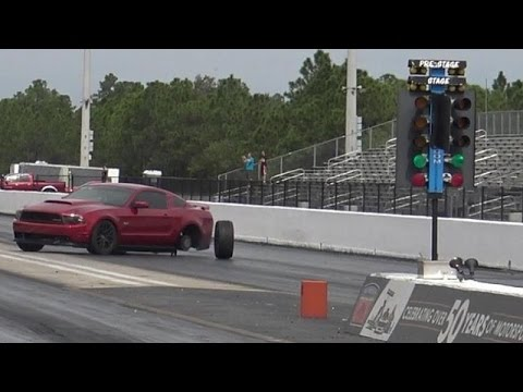 Mustang Gt Loses Control Drag Racing Bmw M5 Road Test Tv