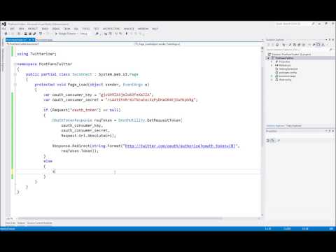 Authorize and Post on Twitter using Twitterizer ASP.Net C#