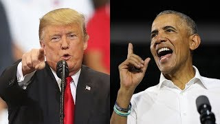 Trump vs. Obama in midterm election campaign's final days