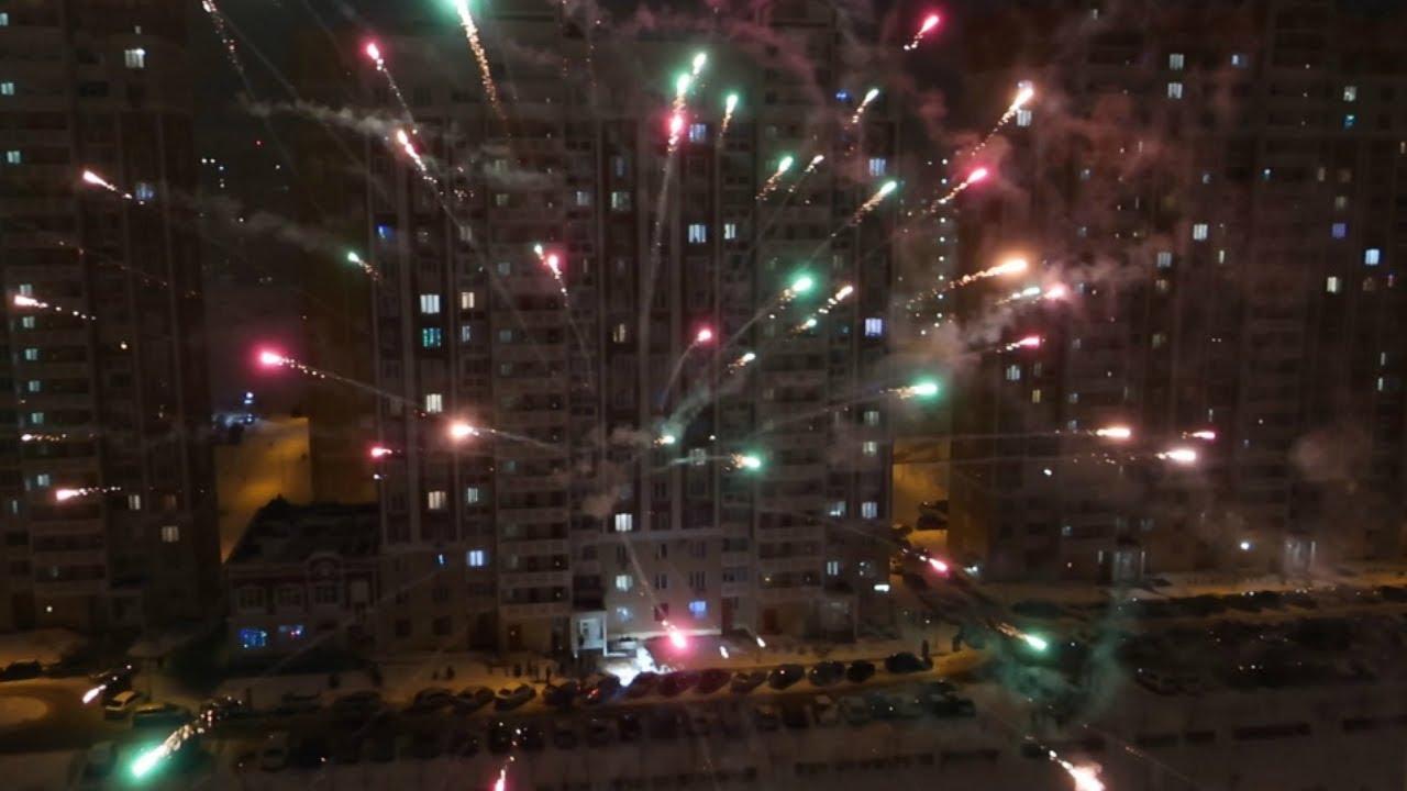 Ростов встретил Новый год / Новогодний салют в Левенцовке