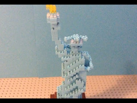Nano Block Statue of Liberty Timelapse Build and Review - YouTube