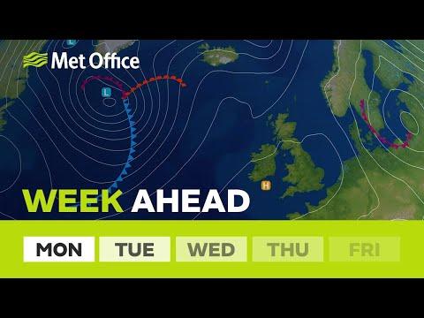Week ahead - high pressure will bring plenty of sunshine this week.