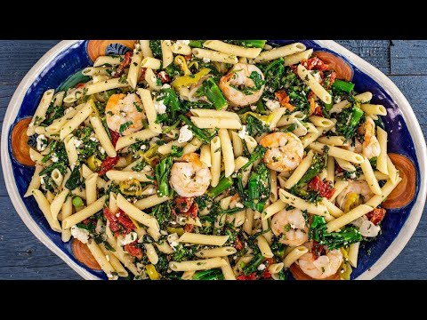 How To Make Sundried Tomato And Broccolini Pasta With Shrimp By Rachael