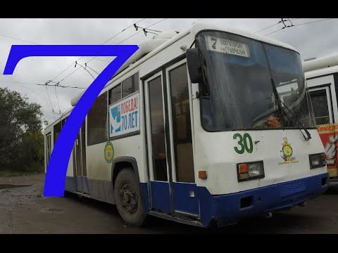 Троллейбусный маршрут №7. Контактная сеть (Кемерово).