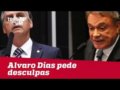 Alvaro Dias pede desculpas a Bolsonaro