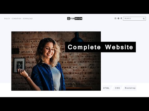 How To Make Website Using HTML CSS Step By Step Responsive Website Design
