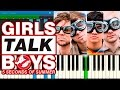 "5 Seconds of Summer - Girls Talk Boys (from the ""Ghostbusters"") [Piano Tutorial] Synthesia"