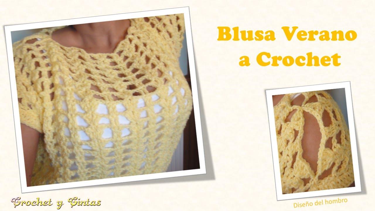 Blusa verano de abanicos a crochet - YouTube