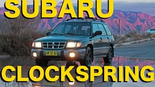 HOW TO Replace Clockspring Subaru Forester 1998-2002