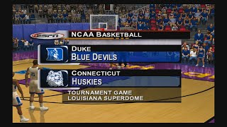 NCAA College Basketball 2K3 - Duke vs UConn National Championship