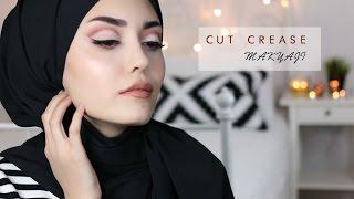 Bordo Tonlarda Cut Crease Makyajı