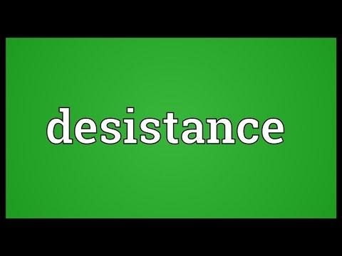 Header of desistance