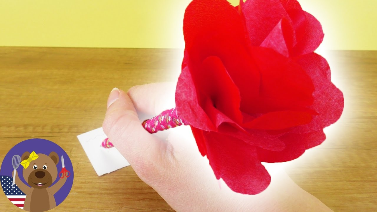 Diy rose pen cool pencil with paper flower easy springtime diy diy rose pen cool pencil with paper flower easy springtime diy mightylinksfo