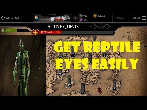 Get REPTILE EYES easily | Tips and Tricks for getting REPTILE EYES easily