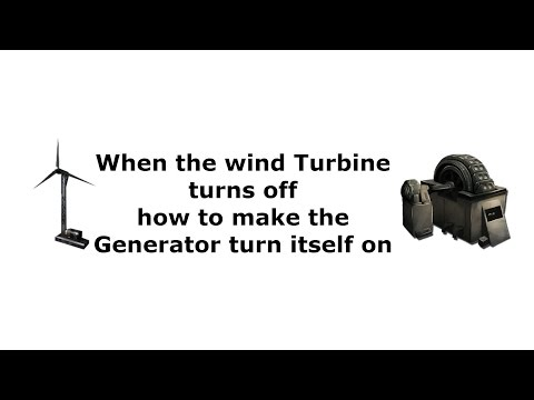 Ark Scorched Earth - How to make the Generator turn itself on When Wind Turbine stops working