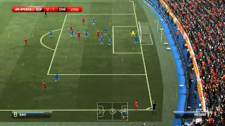 геймплей FIFA 14,режим 2 на 2 Chelsea F.C. - Spanish National Football Team